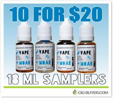 10 Bottle for $20.00-Vape Moar Super Sampler!!